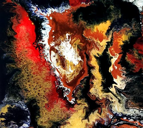 Close up detail of abstract art