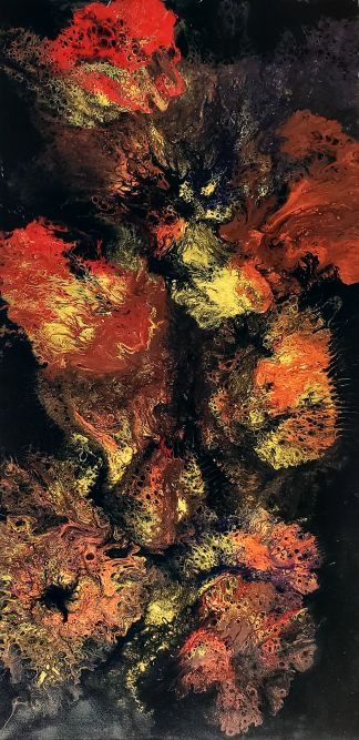 Painting titled Poppies