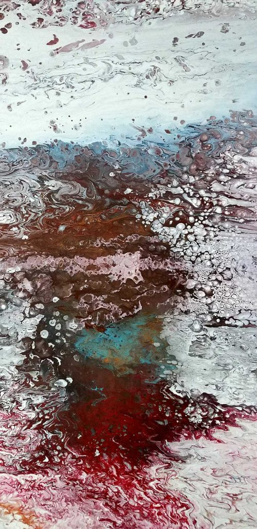 Riverbed painting in acrylic